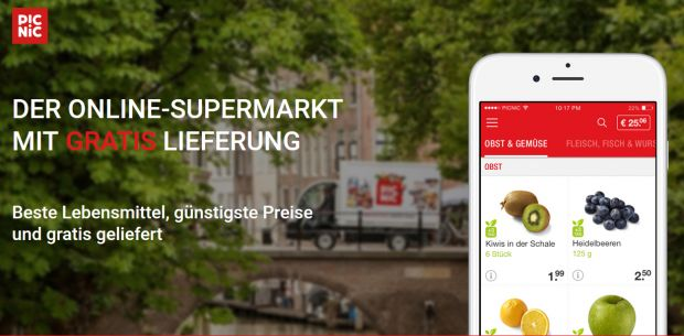 Der Online-Supermarkt Picnic geht Mitte April in Deutschland an den Start.