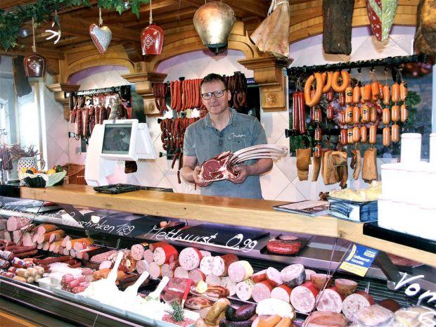 La especialidad de Edwin Schimmel: la carne de primera calidad de Angus beef.
