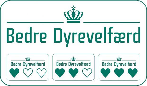 La etiqueta estatal para el bienestar animal en Dinamarca.
